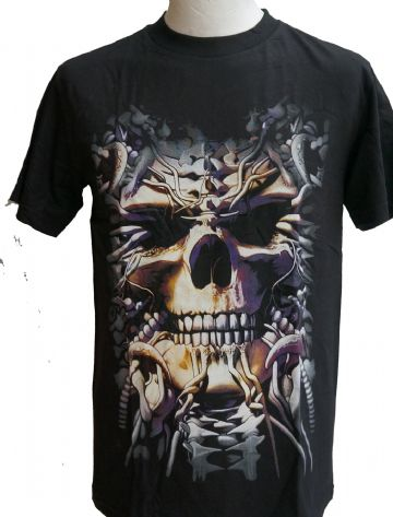 The Hidden Skull T Shirt With Large Back Print